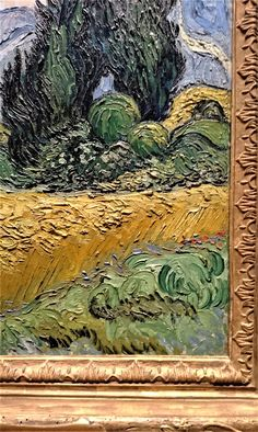 Wheat Field with Cypresses [detail] Cambridge Igcse, Mos Def, Van Gogh Paintings, Cypress Trees, A Level Art, Vincent Van Gogh, Art Sketches, New Art, Art History
