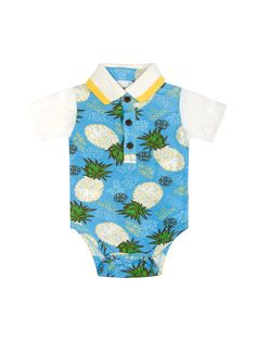 Pineapple Print Onesie from Too-Cute Baby Clothes: Under $20 on Gilt