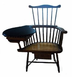 Image of A85-431, Stephen Longfellow Writing Chair. MHS Museum Collections