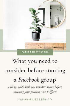 Starting a Facebook group for business or a Facebook group for bloggers can be a great piece to a strong Facebook marketing strategy, but are you ready? There are 4 things you need to know before starting so when you manage a Facebook group you're set up for success to grow your Facebook group. Get these Facebook social media marketing tips to make your Facebook social media marketing strategy more effective. | Sarah Elizabeth Facebook Strategist Find Facebook, How To Use Facebook, Facebook Business, Things To Know, How To Know, Need To Know, Facebook Marketing Strategy, Social Media Marketing, Social Media Posting Schedule