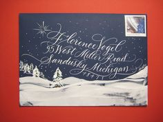 This  December I participated in an envelope exchange through the Society for  Calligraphy. The calligraphy is a variation of ...