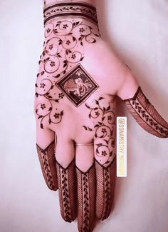 Mehndi Designs Front Hand, Floral Henna Designs, Latest Henna Designs, Henna Tattoo Designs Simple, Stylish Mehndi Designs, Full Hand Mehndi Designs, Mehndi Designs Book, Mehndi Designs For Girls, Mehndi Designs For Beginners