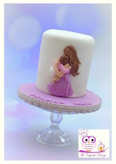Mother and baby cake Biscuit, 25 Anniversary Cake, Mother And Baby, Love Cake, Fondant, Cake Decorating, Mothers, Desserts, Cupcake