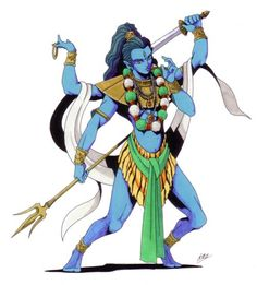 Shiva-Persona 3 version. In the Hindu religion, Shiva the Destroyer is one of the three principle deities of the Trimurti (Hindu Triad) along with Brahma the Creator and Vishnu the Preserver. He originally evolved from the early Vedic god, Rudra, and is now the supreme deity within Shaivism, a branch of Hinduism that focuses on the worship of Shiva.