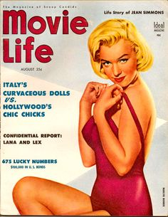 1950s MOVIE LIFE cover ~ Marilyn Monroe