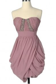 Sweet Affair Embellished Chiffon Dress in Pink - Lily Boutique