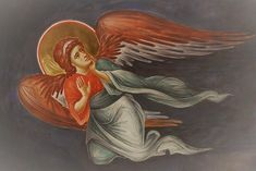 """"""" """"Yes, dear, when Grandma died she went to heaven and turned into an angel. Statistics say Angel Images, Angel Pictures, Byzantine Art, Byzantine Icons, Religious Icons, Religious Art, Angel Guide, Religious Paintings, Demon Art"""