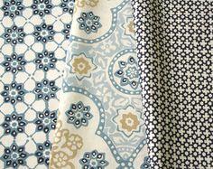 #textile #fabrics #interiordesign Arboretum by Nina Cambell, Osborne & Little Galbraith and Paul textiles.