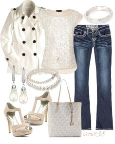 """""""Glitter & Pearls"""" by srose38 on Polyvore"""