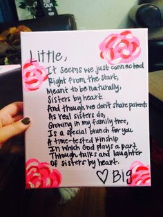 To be the best Big sister I can possibly be for all of my Little sisters.