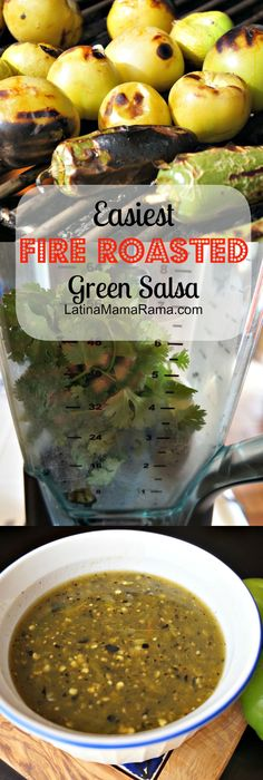 Easiest Fire Roasted Green Salsa to make