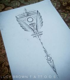 Valkyrie Moon arrow with runes....  Design commission  Copyright of #lucybrowntattoos