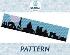 Loom Bead Pattern: Paris Skyline Bracelet / Cuff by ScarabJewels
