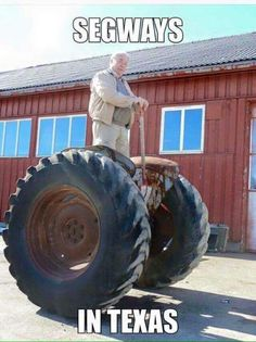 The Redneck Segway, Available Soon at Wal-Mart - Funny WIN Photos and Videos Redneck Humor, Best Funny Photos, Funny Pictures, Ingenieur Humor, Farm Humor, Farm Jokes, Haha, Texas Humor, Texas Funny