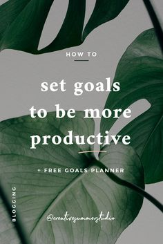How to set goals to be more productive Social Media Branding, Social Media Tips, How To Be More Organized, Business Tips, Creative Business, Online Business, Motivational Posts, How To Stop Procrastinating, Goals Planner