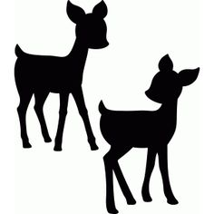 Silhouette Design Store - Product ID Baby Silhouette, Silhouette Design, Hirsch Silhouette, Animal Silhouette, Silhouette Portrait, Deer Stencil, Animal Stencil, Stencils, Deer Outline