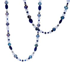 Carolyn Pollack Shades of Gemstone Bead & Sterling Necklace