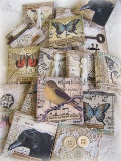 Several Original Collages... Mini Art~!~ by QueenBe:
