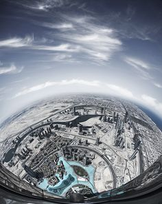 Small World by Alisdair Miller.  Shot from around 700m up the Burj Khalifa, the tallest structure in the world.