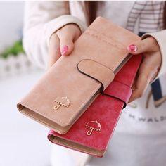 55card leather women female business id credit card holder case passport cover wallets porte carte tarjetero mujer di credito 49