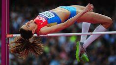 Russia's Anna Chicherova leaps to High Jump victory - London 2012 Olympics