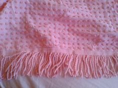 Vintage Pops Chenille Bedspread Pink Cottage Chic by mermaidwatch, $35.00 Perfect for #MothersDay