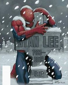 Legendary Marvel Comics co-creator Stan Lee — famous for giving the world beloved superheroes including Spider-Man, Iron Man and the Incredible Hulk — died Monday. He was According to TMZ, Lee suffered a number of illnesses over the last year Marvel Avengers, Marvel Memes, Comic Kunst, Comic Art, Image Manga, Bd Comics, Marvel Comics Art, Iconic Characters, Marvel Characters