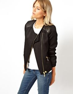 quilted bomber jacket. Love the asymmetry.