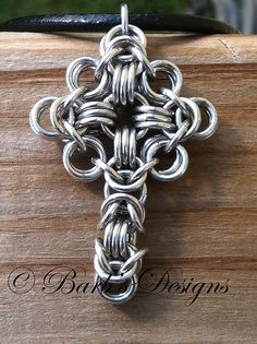 Chainmaille Cross | Chainmaille crss made with aluminum ring… | barb'sdesigns | Flickr
