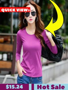 e715d343d34c3 Women s Round Neck Long Sleeve Slim Bottoming Shirt