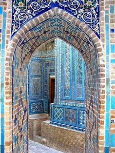 Samarkand, Uzbekistan - Samarkand is an ancient Silk Road city and the madrasas and mosaics of the monumental Registan square are among the world's most beautiful examples of Islamic architecture. #islamicarchitecture