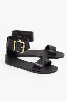 Superette x Beau Coops Leelah Sandal - Black Stingray Leelah, Coops, Things To Buy, Black Sandals, Belt, Leather, Accessories, Summer, Fashion