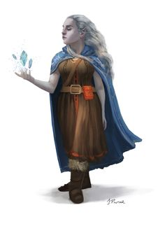 f Dwarf Cleric Cloak midlvl traveler ArtStation - Desna the Half-Dwarven, Jon Pintar