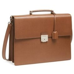 Salvatore Ferragamo 'Revival' Leather Briefcase Bison One Size - product - Product Review