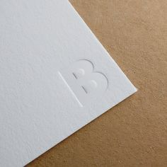 Blind impression monogram letterpress stationery by ceruleanpress.com