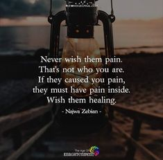 Only those in pain can inflict pain on others