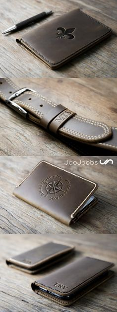 Like handmade? Visit JooJoobs and see all their fun, unique, and handmade wallet designs. Handmade Leather Wallet, Leather Gifts, Leather Accessories, Leather Jewelry, Wedding Gift Cutlery, Handmade Wallets, Leather Projects, Leather Tooling, Gifts For Him