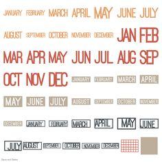 Cricut Days and Dates Garden Of Words, January February March April, Cricut Cartridges, Cricut Fonts, Basic Shapes, Cricut Design, Dating, Letters, Cricut Explore
