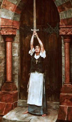 Jeanne d'Arc Finding The Sword Of Ste. Catherine de Fierbois by William Mathis