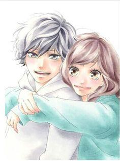 Mabuchi Kou and Yoshioka Futaba - Ao Haru Ride / Blue Spring Ride Futaba Yoshioka, Futaba Y Kou, Manga Love, Anime Love, Ao Haru Ride Anime, Anime Couples, Cute Couples, Best Romance Anime, Blue Springs Ride
