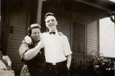 Barb's Family Stories: (Not So) Wordless Wednesday: Aunt Irene gives it t...
