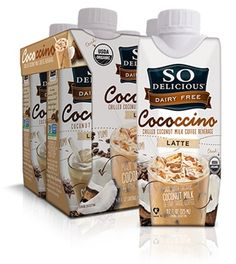 So Delicious Dairy Free Cococcino - Coconut Milk Iced Latte and Mocha (dairy-free, soy-free, vegan) (Vegan Smoothies Coffee) Dairy Free Diet, Dairy Free Recipes, Vegan Gluten Free, Dairy Free Snacks, Vegan Recipes, Coffee Drinks, Iced Coffee, Smoothies Coffee, Paleo Coffee