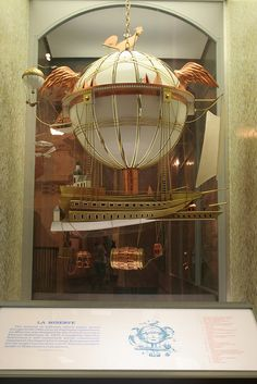French Airship Model on exhibit at Smithsonian. #steampunk http://www.pinterest.com/TheHitman14/artwork-steampunked/