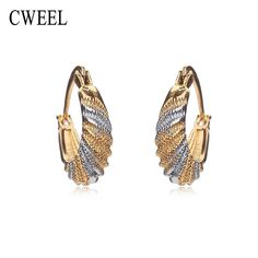 Austrian Mix Color Gold Plated  Earrings