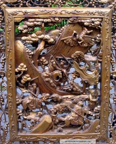 Asian carved wood
