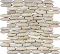 Driftwood Tan Stacked Pebble Mosaics 12x12