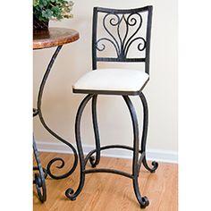 rod iron bar stools with regard to House Wrought Iron Bar Stools, Wrought Iron Decor, Bar Stool Chairs, Swivel Counter Stools, Iron Furniture, Interior, Home Decor, Pot Racks, Wine Racks