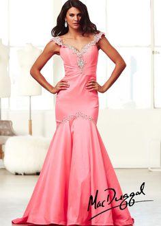 Mac Duggal 61615H - Pink Beaded Mermaid Prom Dresses Online #thepromdresses