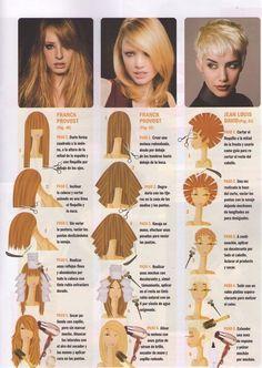 Bildergebnis für cortes de pelo paso a paso Hair Cutting Techniques, Hair Color Techniques, Bp Coiffure, Peroxide Hair, Medium Hair Styles, Curly Hair Styles, Diy Haircut, Corte Y Color, Hair Creations
