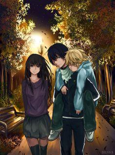Hiyori, Yukine, and Yato // Noragami Noragami Anime, Yatogami Noragami, Manga Anime, Yato And Hiyori, Art Manga, All Out Anime, Me Me Me Anime, Anime Love, Fangirl
